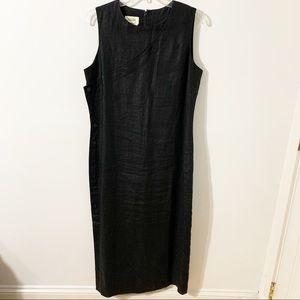 Talbots Irish Linen Maxi Lined Sleeveless Dress